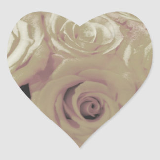 Sepia Vintage-look Roses Stickers