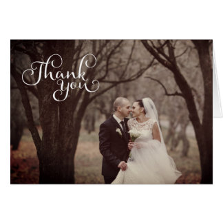 Sepia Vintage Simple Script Wedding Greeting Cards