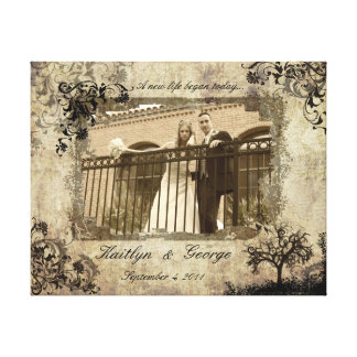 Sepia Wedding Decorative Wrapped Canvas Stretched Canvas Prints