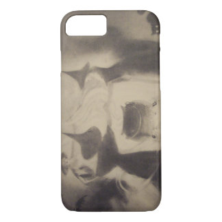 Sepia Witch Bat Night Cauldron Black Cat iPhone 7 Case