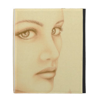 Sepia Woman iPad Folio Covers