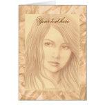 Sepia Woman II Card