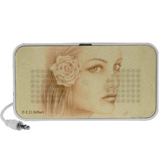 Sepia Woman Notebook Speaker