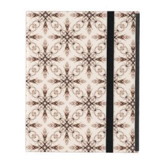 Sepia Woodland Victorian Fractal Art iPad Folio Case