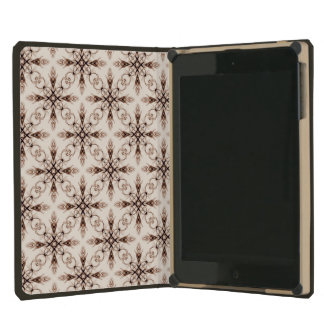 Sepia Woodland, Victorian Fractal Art Pattern iPad Mini Retina Cover
