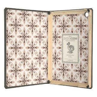 Sepia Woodland, Victorian Fractal Art Pattern iPad Air Cover