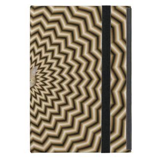 Sepia Zigzag Ripples + Cat iPad Mini Case