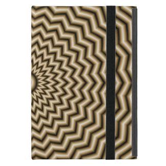 Sepia Zigzag Ripples iPad Mini Case