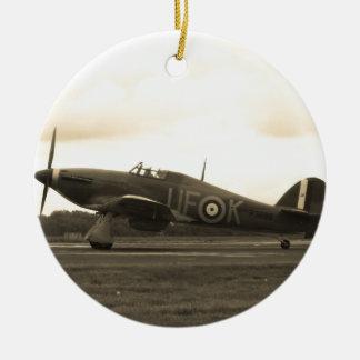 Sepiatone Hawker Hurricane Round Ceramic Decoration