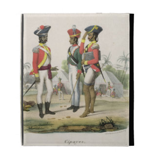Sepoys, from 'L'Inde Francaise' by M.E. Burnouf, e iPad Folio Covers