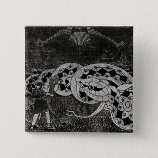 Seppo Llmarinen Ploughing the Field of Snakes 15 Cm Square Badge