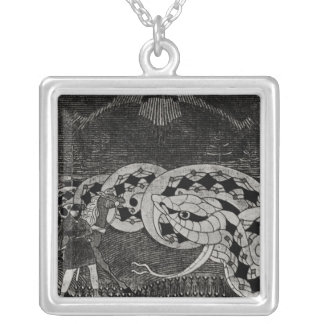 Seppo Llmarinen Ploughing the Field of Snakes Silver Plated Necklace