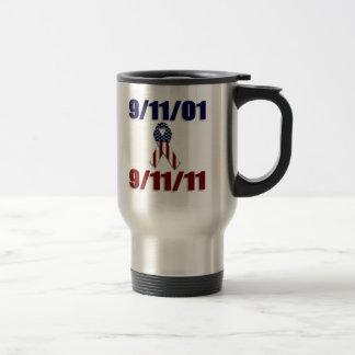 September 11, 2001 Ten Year Anniversary Stainless Steel Travel Mug