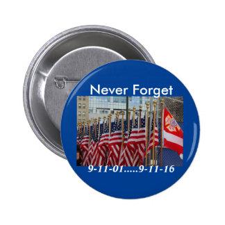 September 11 6 cm round badge