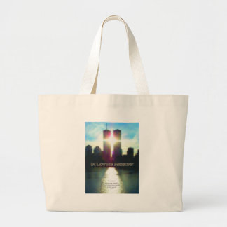 September 11 Twin Towers In Memory Canvas Bag