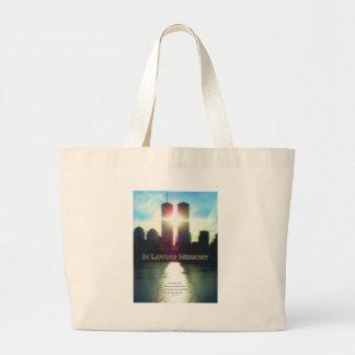 September 11 Twin Towers In Memory Jumbo Tote Bag