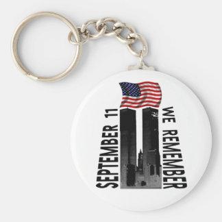 September 11 We Remember Memorial Tribute Key Ring