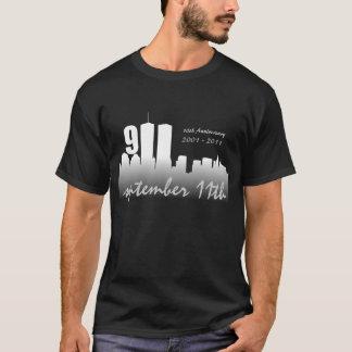 September 11th 9/11 10th Anniversary Black Tshirt