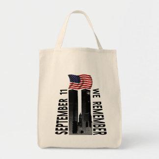September 11th  We Remember Memorial Tribute Grocery Tote Bag
