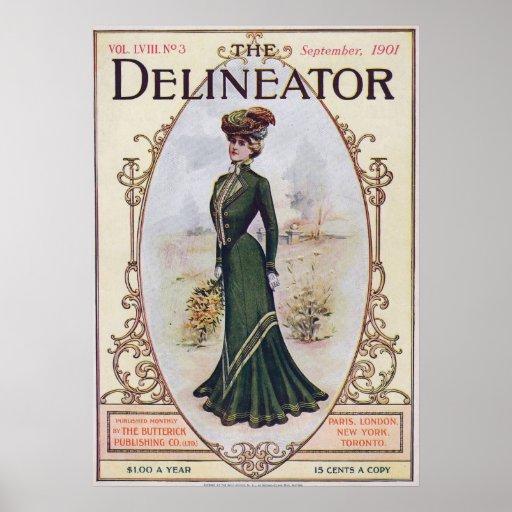 September 1901 Fashion Magazine Poster