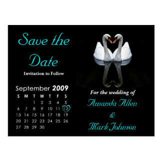 September 2009 Save the Date, Wedding Announcement Postcard