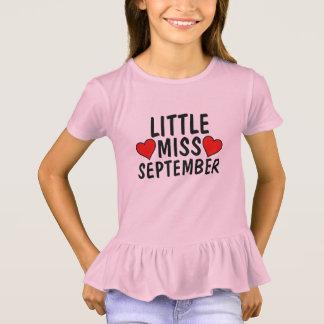 SEPTEMBER BIRTHDAY GIRL T-shirts, LITTLE MISS T-Shirt