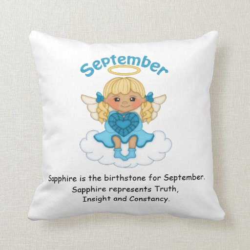 September Birthstone Angel Blonde Pillow