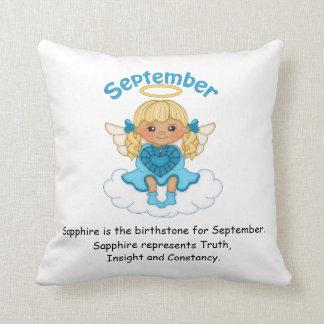 September Birthstone Angel Blonde Cushions