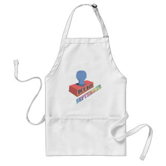 September Due Date Stamp Apron