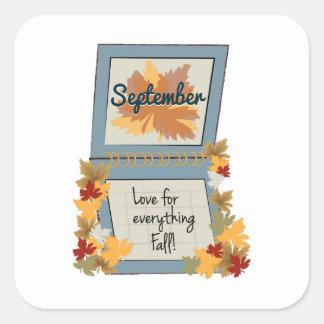 September Fall Sticker