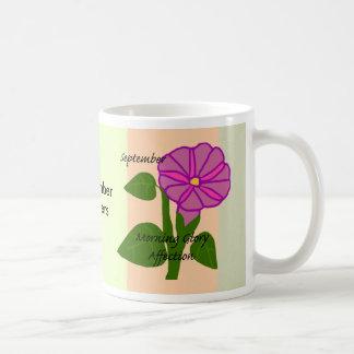 September flowers mug