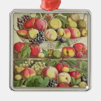 September, from 'Twelve Months of Fruits' Silver-Colored Square Decoration