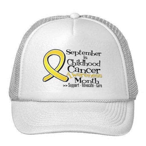 September is Childhood Cancer Awareness Month Mesh Hat