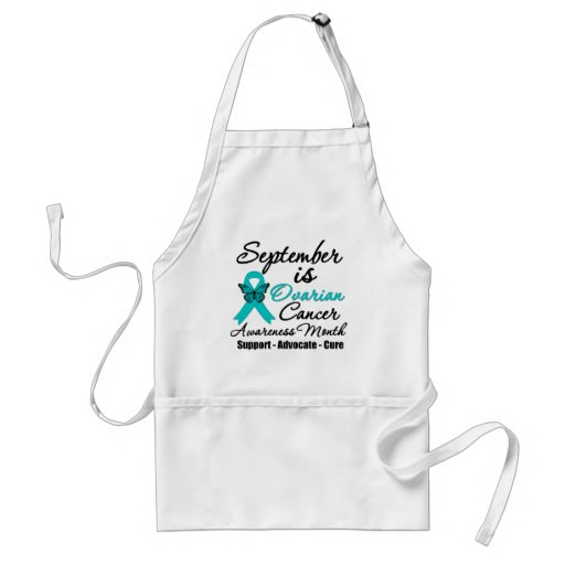 September is Ovarian Cancer Awareness Month Aprons