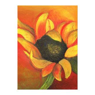 September Sunflower 2011 Canvas Print