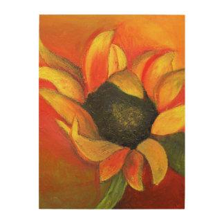 September Sunflower 2011 Wood Wall Art