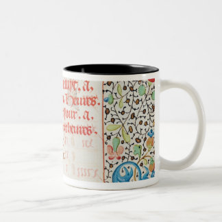 September: Trampling Grapes Two-Tone Coffee Mug