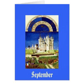 September - Tres Riches Heures du Duc de Berry Card