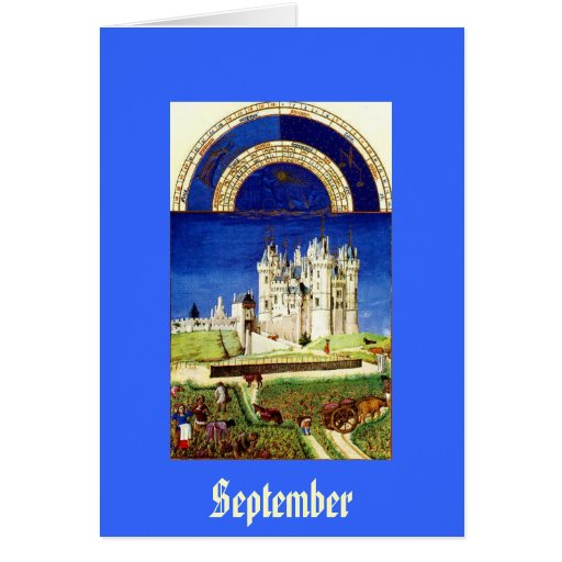 September - Tres Riches Heures du Duc de Berry Greeting Cards