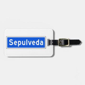 Sepulveda Boulevard, Los Angeles, CA Street Sign Luggage Tag