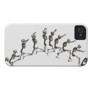 Sequence illustrating a human skeleton jumping Case-Mate iPhone 4 case