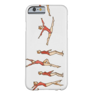 Sequence of illustrations showing female gymnast barely there iPhone 6 case