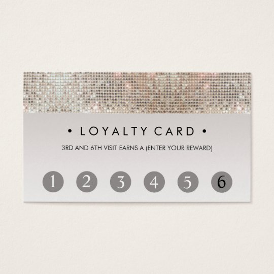 sequin beauty salon 6 punch customer loyalty card. Black Bedroom Furniture Sets. Home Design Ideas
