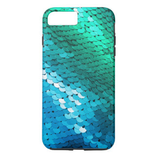 Sequin Blue Green Teal Glitter Glitz Ombre Mermaid iPhone 7 Plus Case