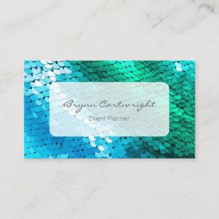 Sequin mermaid business cards zazzle uk sequin business card blue green mermaid colourmoves