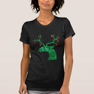 sequin christmas reindeer T-Shirt