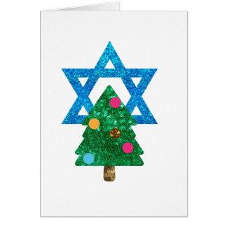 sequin christmukkah hanukkah card