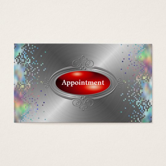 Sequin Elegant Appointment  Template Business Card