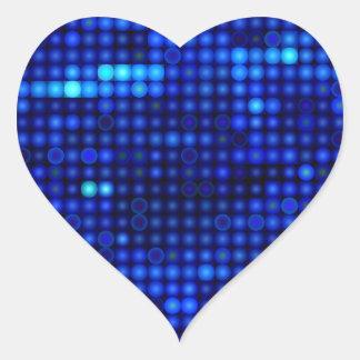 sequin in blue heart sticker
