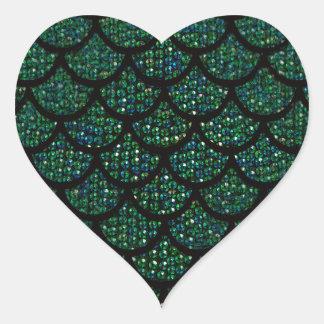 sequin mermaid heart sticker